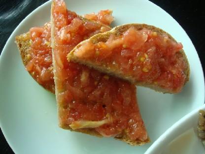 トマト乗せパン.JPG